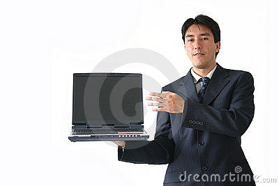 Business man laptop - ar