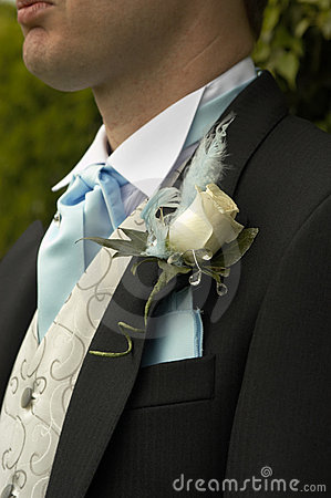 Boutonniere white rose