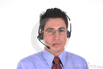 Call center operator-male
