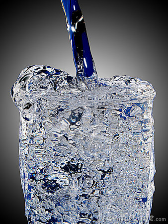Icy glas of water