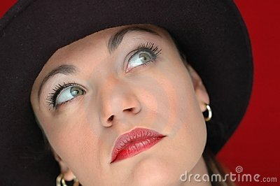 Woman in black hat 3