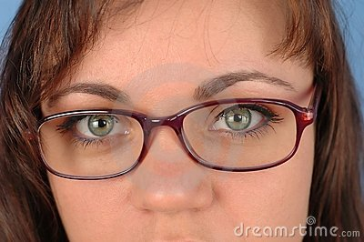 Woman with glasses 2