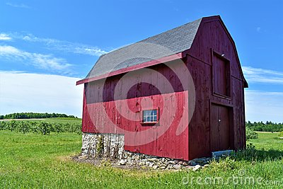 Red New England Barn in Hillsborough County, New Hampshire, United States US