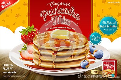 Delicious fluffy pancake ad