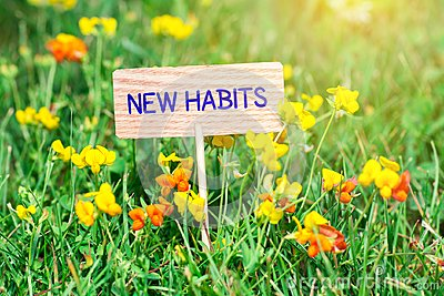 New habits signboard