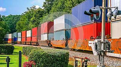 Colorful Freight Train