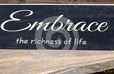 Tip about embrace the richness of life print on wall
