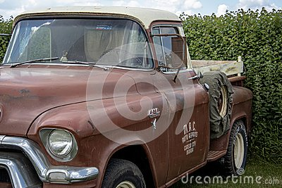 Vintage GMC pickup truck, rat look, circa 1958