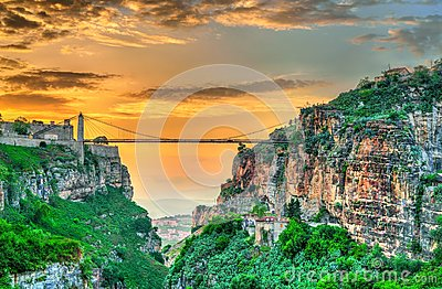 Sidi M`Cid Bridge across the Rhummel River in Constantine, Algeria