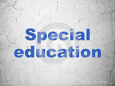 Education concept: Special Education on wall background