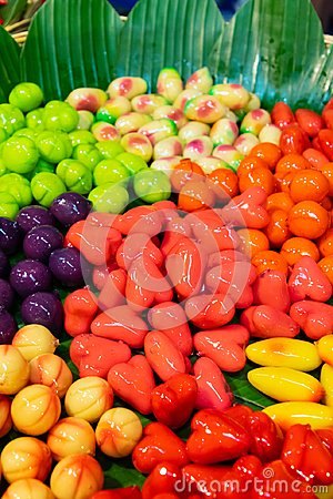 stock image of mini yellow bean fruits