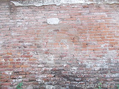 Old Grunge brick wall, old brickwork on panoramic view