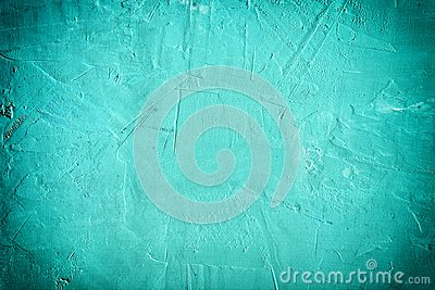 Abstract background bumpy putty. Beautiful turquoise color, empty space with vignette.