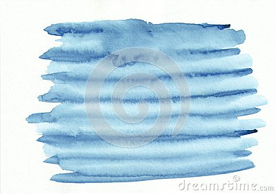 Light blue striped horizontal watercolor gradient hand drawn