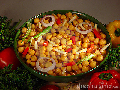 Healthy and nutritious chick peas salad