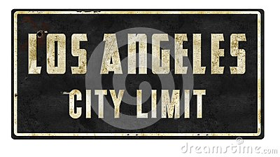 Los Angeles City Limit Retro Sign