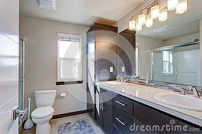 Newly renovated bathroom in apartment building
