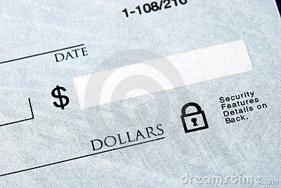 Dollar amount on the check