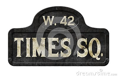 New York City Times Square Street Sign Antique Old Vintage
