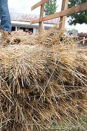Historic threshing
