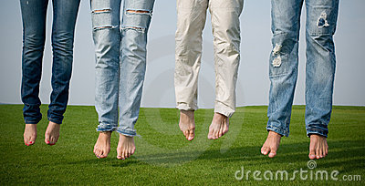 People with jeans