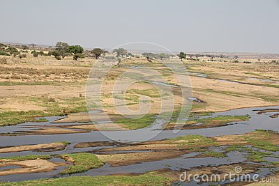 Beautifully view of ruaha river at ruaha national park