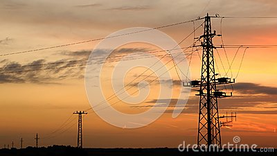 Silhouettes of Power Line