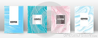 Cover page design template. Hipster brochure layout. Captivating trendy abstract cover page. Pink an
