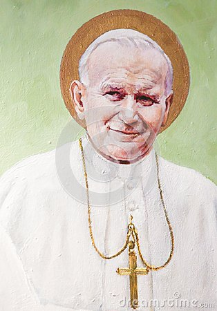 Fresco of Pope John Paul II