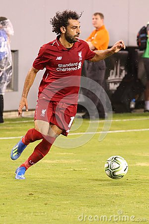 Mohammed Salah #11of Liverpool FC in action against Manchester City during 2018 International Champions Cup game