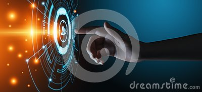 stock image of target audience marketing internet business technology concept