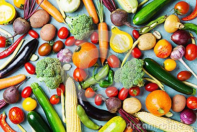 stock image of healthy food background. autumn vegetables and crop top view.