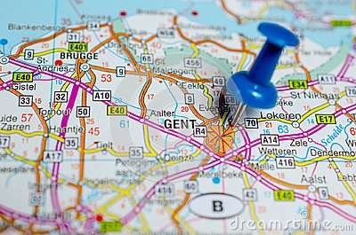 Gent on map