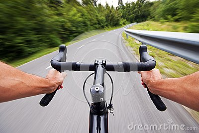 Road cycling concept stock photo with hands
