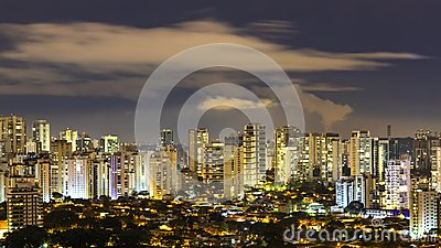 stock image of great cities at night