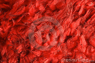 Red fake fur