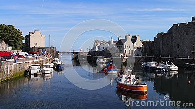 The harbour in Castletown, Isle of Man