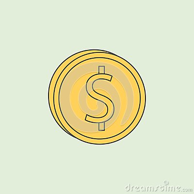 coinage icon. Element of banking icon for mobile concept and web apps. Field outline coinage icon can be used for web and mobile