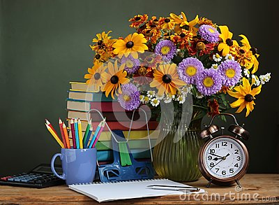 Back to school. The first of September, Knowledge day, Teacher`s