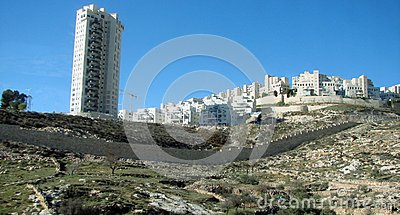 stock image of city ​​of bethlehem. palestine. landscapes of exotic southern vegetation park areas and city views on a sunny, clear day.