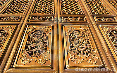 Chinese temple door, Kunming, Yunnan