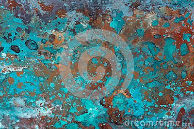 Abstract grunge background with circles and texture.