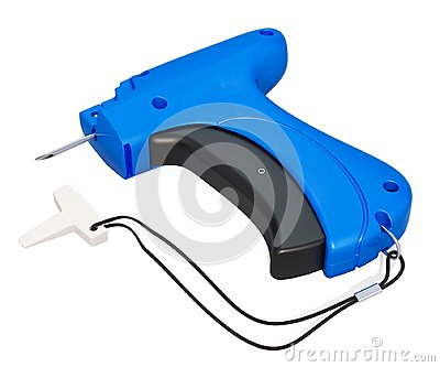 Price Label Tagging Clothes Tag Gun. 3D rendering