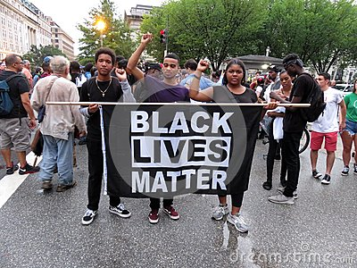 Black Lives Matter at the Rally Near the White House