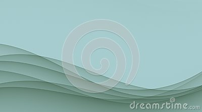 Pale blue smooth sloping waves and curves abstract wallpaper background illustration