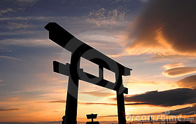 Tori Gate in Mount Fuji of Japan