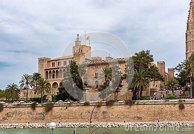 Almudaina Palace in Palma de Mallorca - Balearic Islands, Spain