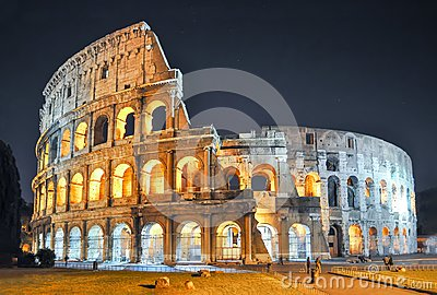 Colosseum Coliseum at night, Rome, Italy