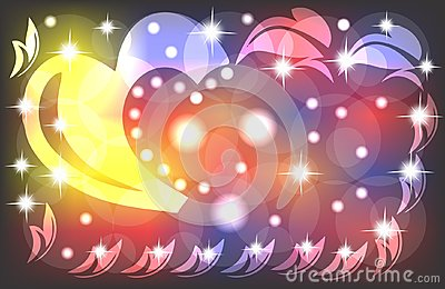 Valentines day background. Love romantic theme. multi colourd design