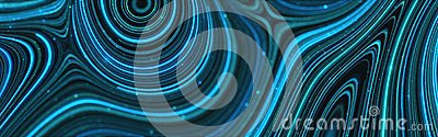 Beautiful abstract blue abstract modern waving background.